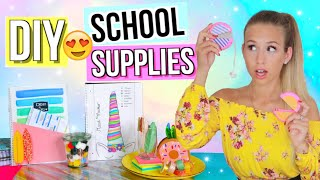 BACK TO SCHOOL DIYs GEGEN LANGEWEILE ✏️Do It Yourself School Supplies - Deutsch - Cali Kessy