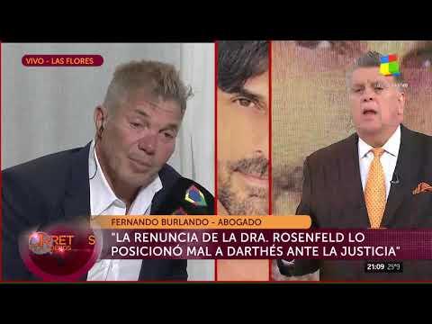 Fernando Burlando, abogado de Juan Darthés: 'Lo veo muy desganado'