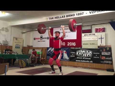 Aleš Kadlec (TAK Hellas Brno). BW - 81,4 Kg. Trh - 110 kg. Nadhoz - 135 kg. Total: 245 Kg