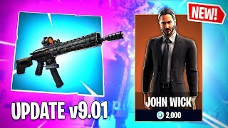 Le 'NEW' John Wick SKIN ET Tactical Assault Rifle Gameplay à Fortnite.