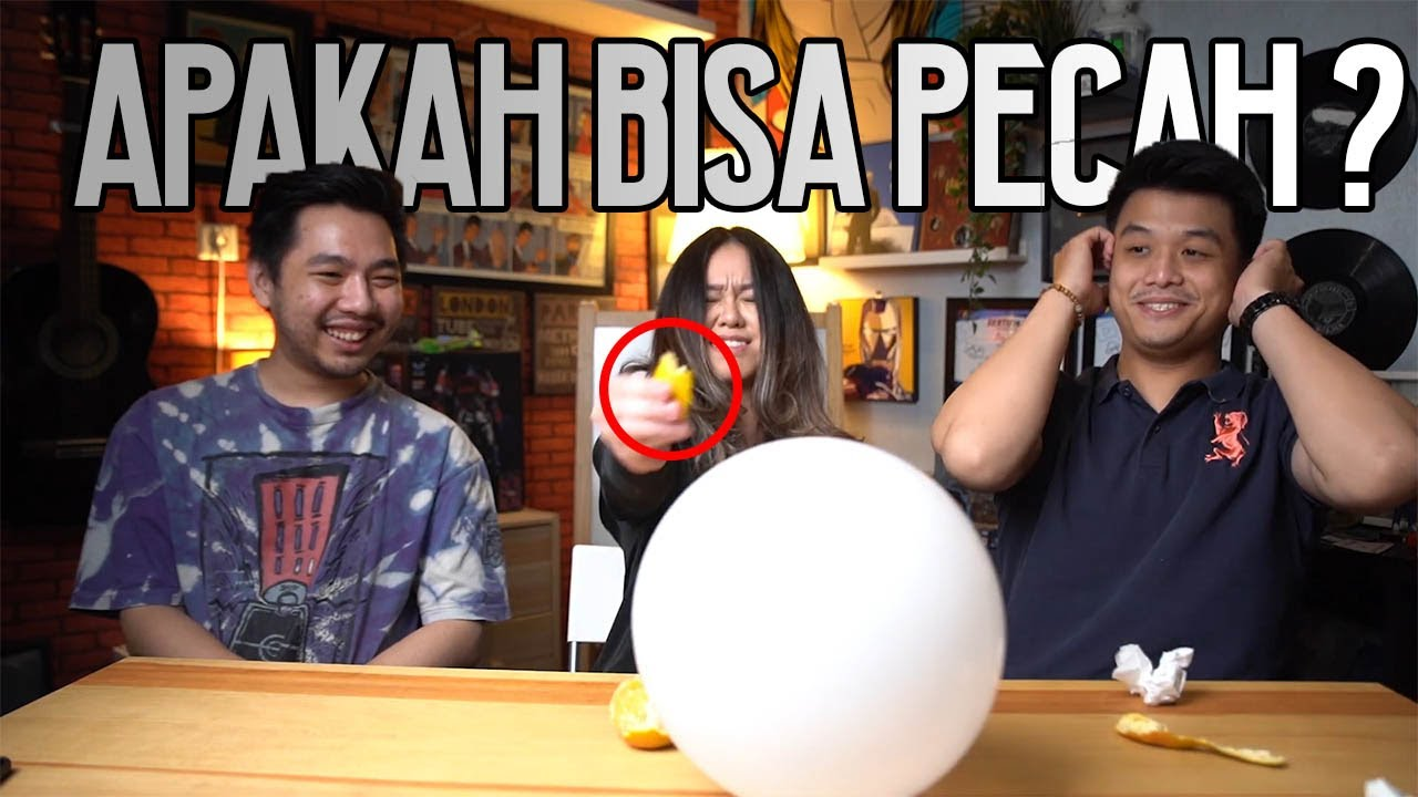 MENDEBARKAN! PECAHIN BALON PAKE AIR JERUK? | Crack An Egg Experiment