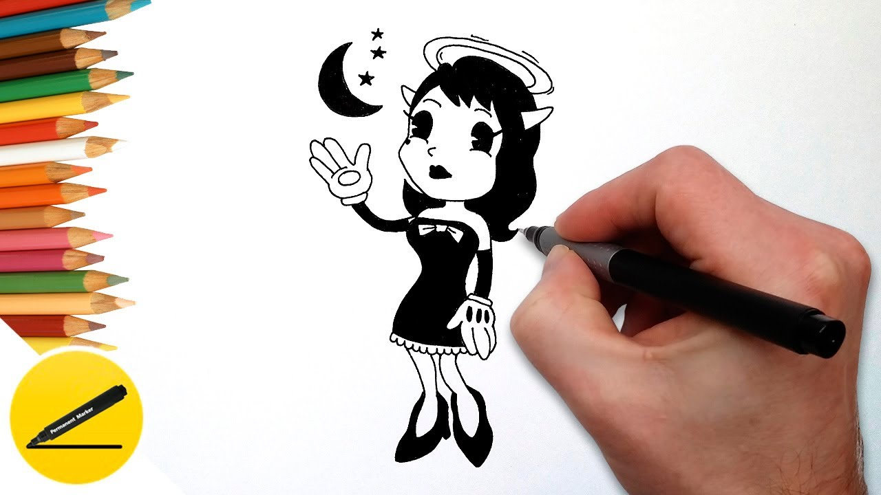 How To Draw Alice Angel Bendy And The Ink Machine Draw -7786