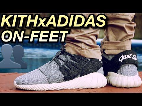 reputable site f952f 05936 Kith x Adidas Tubular Doom On-Feet Review - YouTube