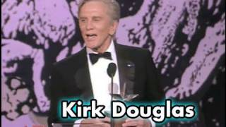 Kirk Douglas Accepts the AFI Life Achievement Award in 1991