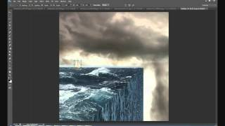 Surreal Flat Earth Photoshop Speed art
