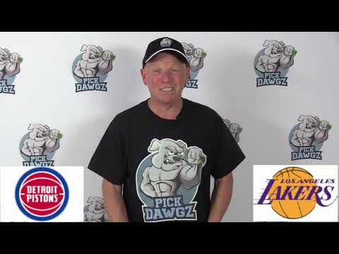 Los Angeles Lakers vs Detroit Pistons 1/5/20 Free NBA Pick and Prediction NBA Betting Tips