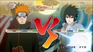 Naruto Shippuden Ultimate Ninja Storm Generations Pain vs Sasuke Uchiha
