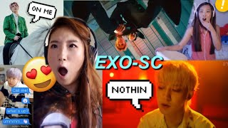 EXO-SC 'Telephone' (ft. 10CM) + CHANYEOL 'Nothin' + SEHUN 'On Me' MV ☆ SISTERS REACTION ☆ 세훈 & 찬열