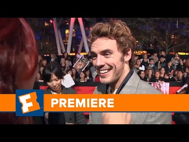 Exclusive: Catching Fire Premiere - Sam Claflin and Jena Malone | Premiere | FandangoMovies