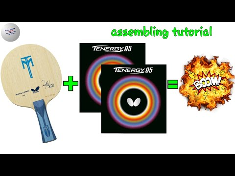 Butterfly Tenergy 05 & Timo Boll ALC Assembling  Tutorial