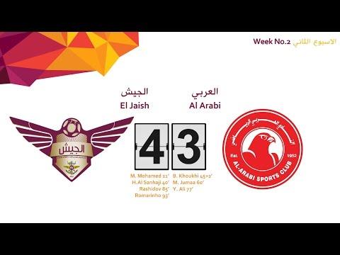 Al Arabi 3-4 El Jaish ( Week 2 )