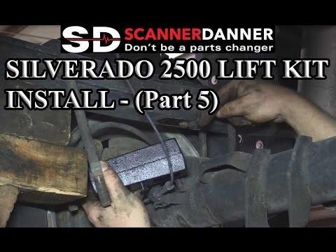 Silverado 2500 lift kit install - rear block install, final pics (part 5)