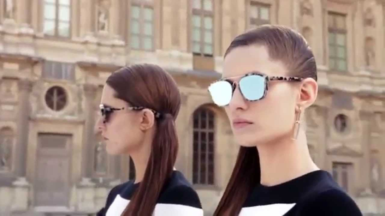 ce3064a7e15c5 Cheristian Dior Abstract Sunglasses Fall Winter 2015 16 - YouTube