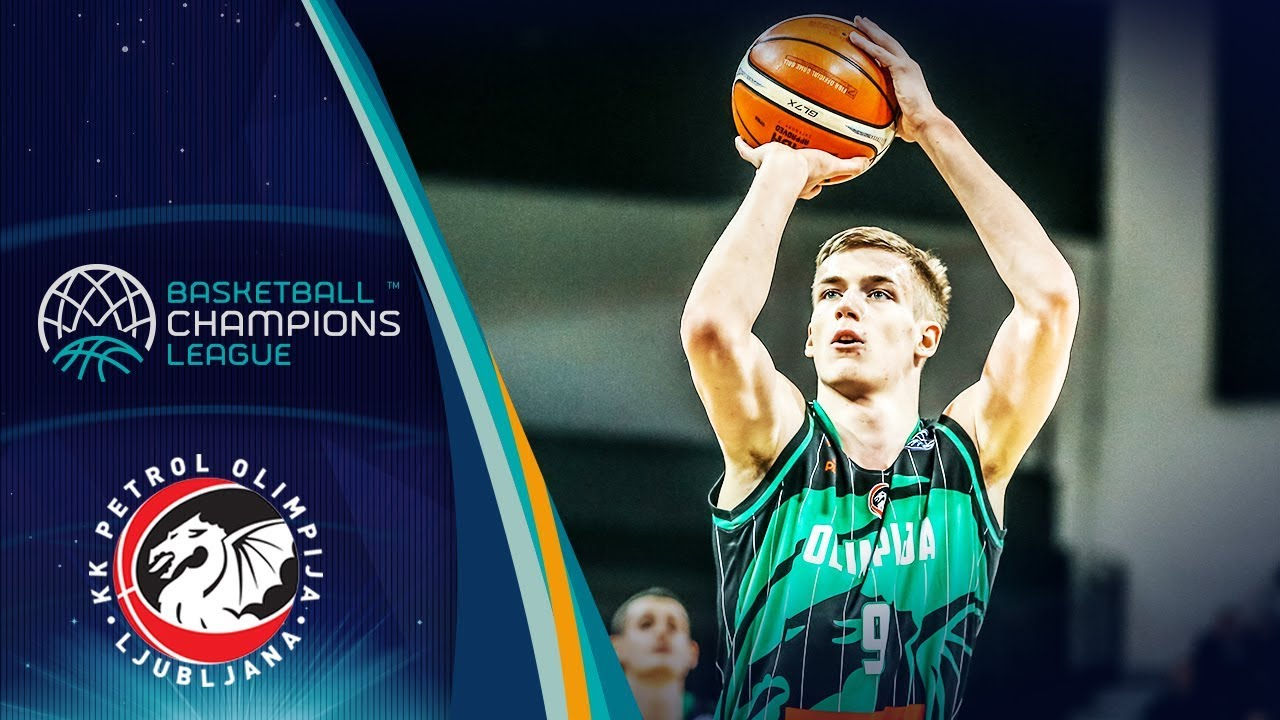 Luka Šamanić (Petrol Olimpija) No. 19 Pick is off to the Spurs - Basketball Champions League 2018