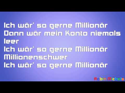 Die Prinzen, Millionär-Lyrics-Text