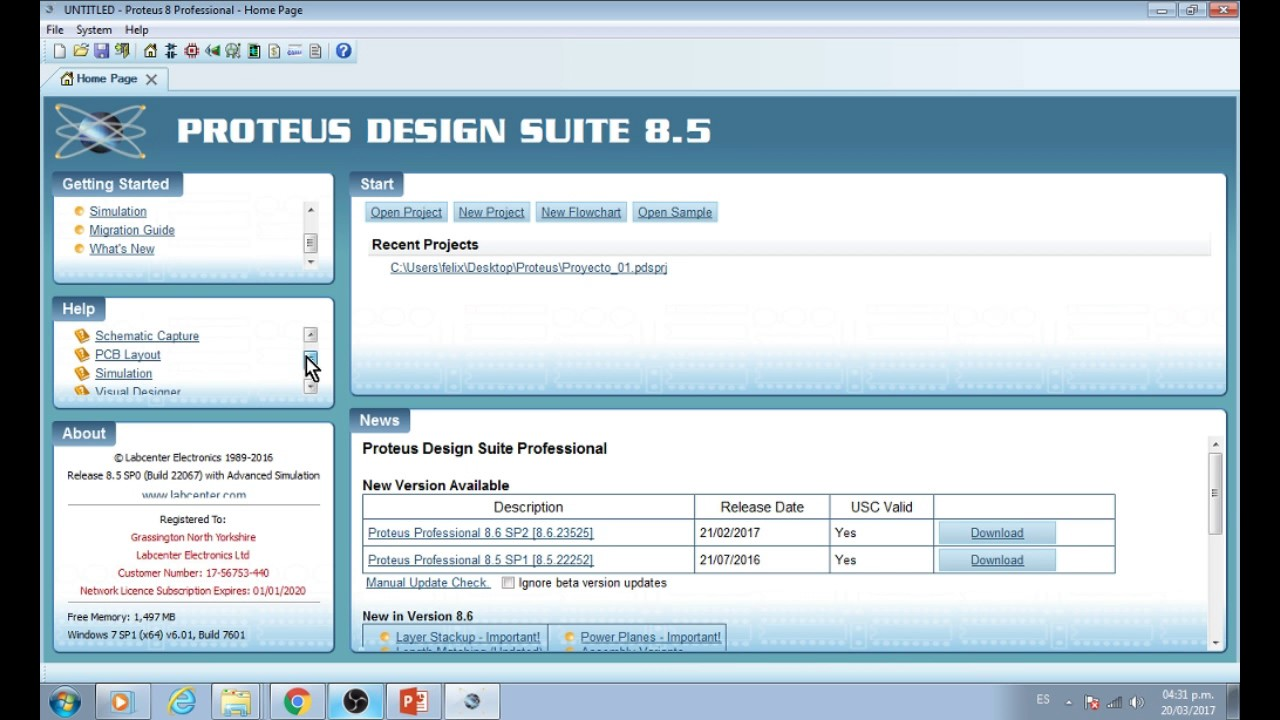 Proteus Design Suite 85 Software De Diseo Circuitos Youtube Electronic Circuit Free Download For Windows 8