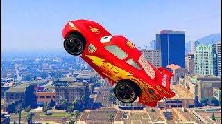 Тачки Молния Маквин Прыгает с Трамплина Мультики про Машинки Cars McQueen