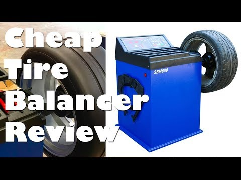 Cheap Tire Balancer 680 Machine Unboxing, Test, and Review