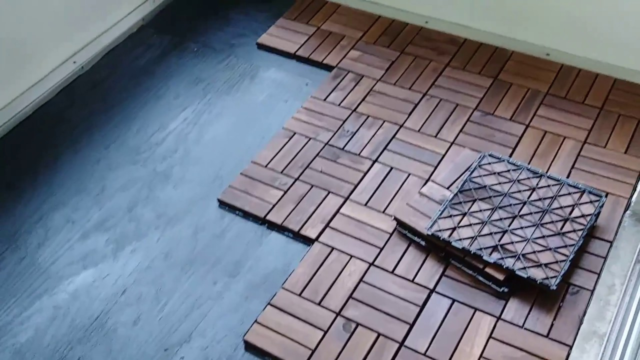 how i installed our porch flooring ikea runnen tiles