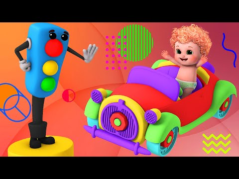 Red Light, Red Light what do you say | Traffic Light poem - Ultra HD 4K Baby Songs & Nursery Rhymes