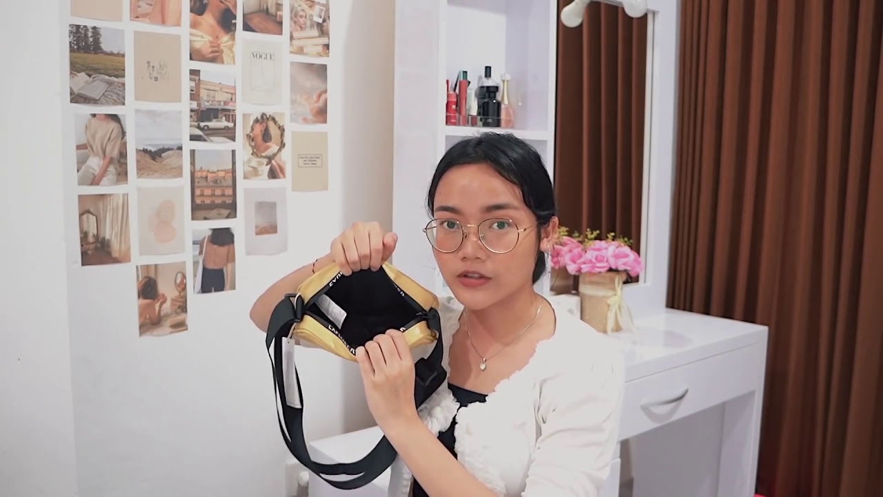 MINISO Tas Selempang Wanita Harajuku Jepang Persegi Sling ...