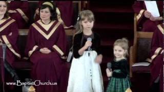 Рождественский стих и пение Аня и Неля. Церковь На Горе