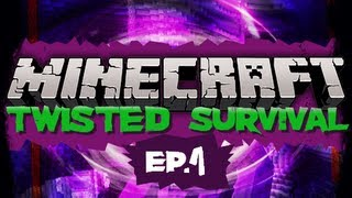 """""""I'M CRAZY!"""" Minecraft: Twisted Survival Ep. 1 (HD)"""