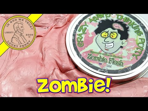 Crazy Aaron's Zombie Flesh Thinking Putty - Hypercolor & Glow In The Dark
