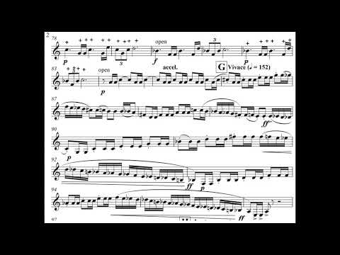 Malcolm Arnold - Fantasy for Horn, Op. 88 (1966) [Score-Video]