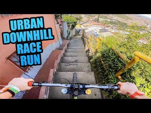 Pipes - CRAZY URBAN MTB DOWNHILL TRACK - COLOMBIA