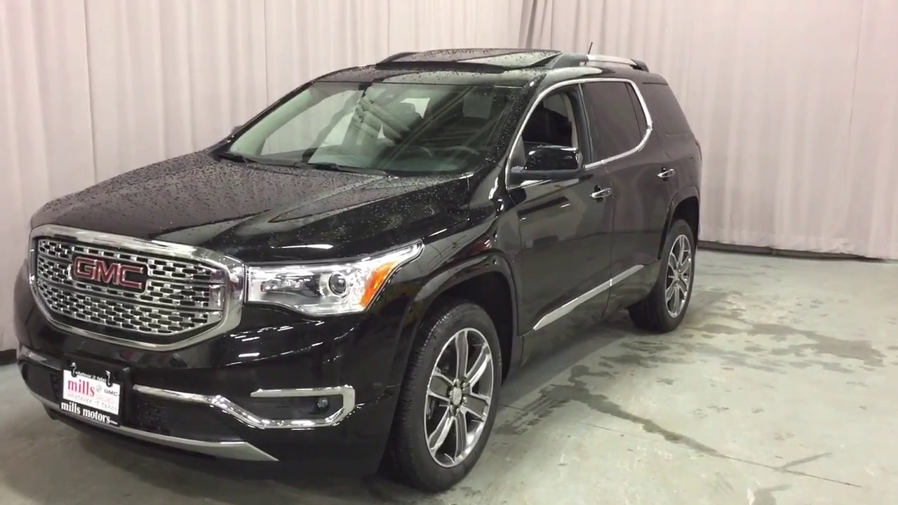 2017 Gmc Acadia Awd Denali Surround View Camera Black Oshawa On Stock 170707