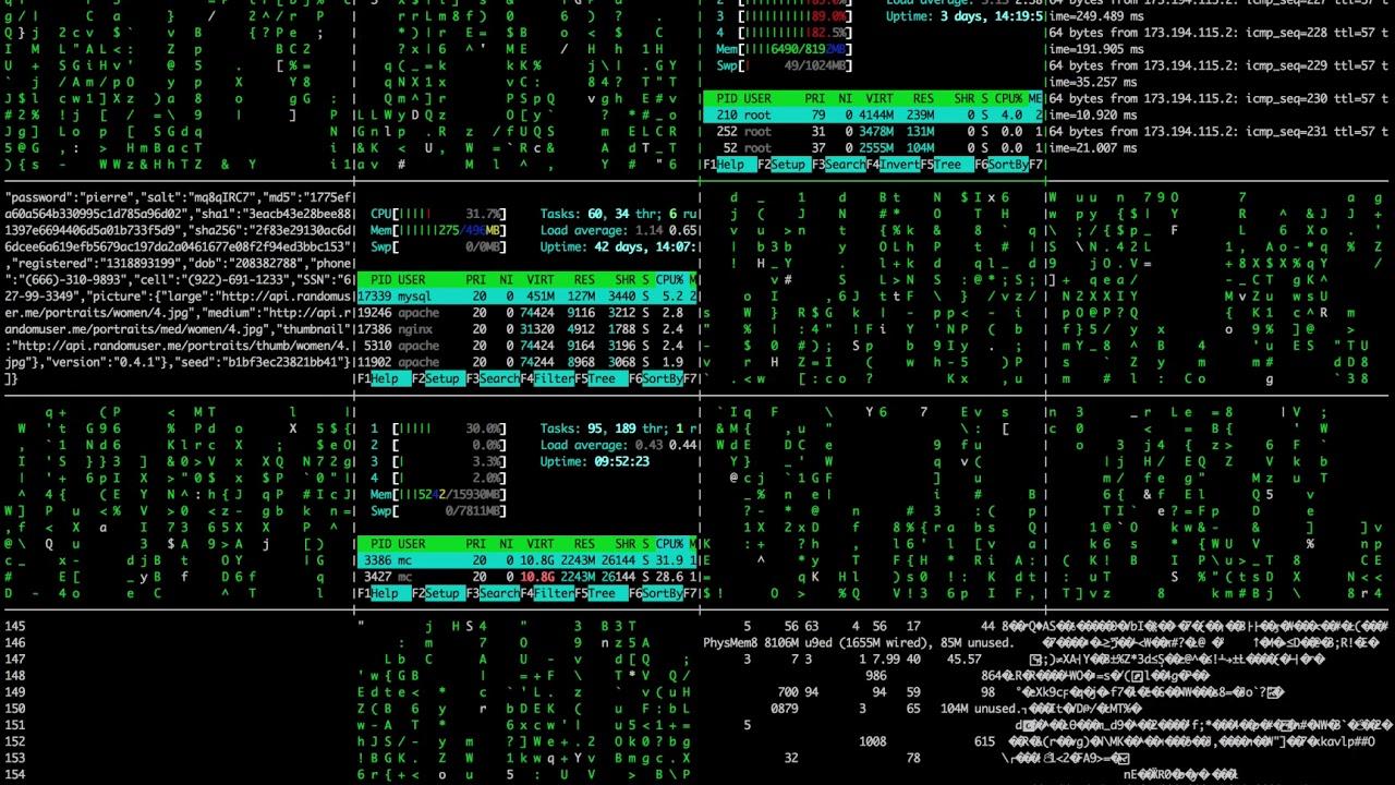 Картинка консоли хакера