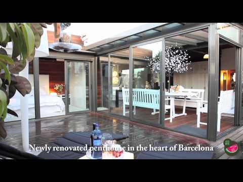 Tourist and business stay in Barcelona, Modernist apartment with big terrace and two bedroom