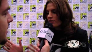 Stana Katic - Castle Press Line Comic Con 2010