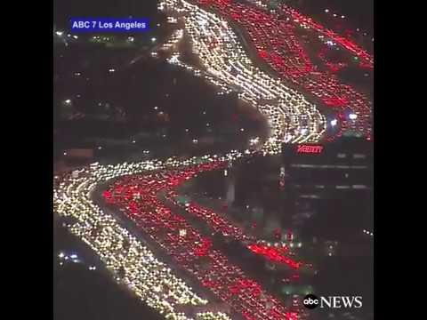 Insane Traffic in Los Angeles