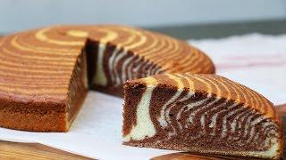 Recette du super Cake zébré moelleux et facile (ou gâteau marbré zébré)