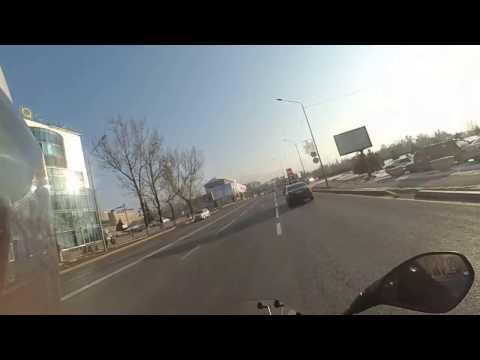 Almaty January ride-2 BMW R1200R LC