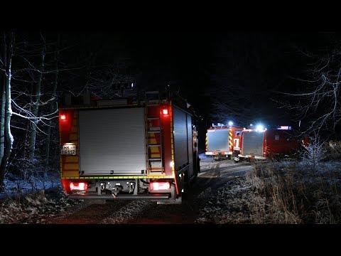 08.12.17 - Einsatzvideo - Amtshilfe für Polizei - Suche nach abgestürztem Flugzeug im Süntel