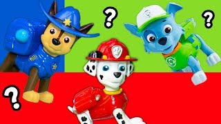 Paw Patrol  Pretend Play Color Seek and Find Dogs with PJ Masks and Trolls Toys
