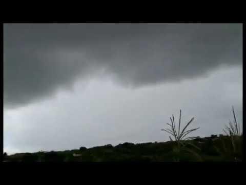 Chuva avançando sobre São Miguel-RN (12/04/2019)