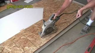 Cutting Arch With Circular Saw - Home Building Techniques For Advanced House Framers