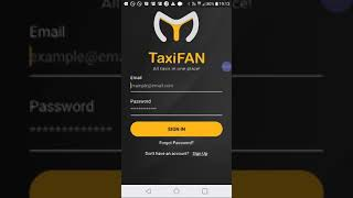 How to register in Taxifan Driver app