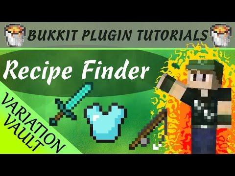 Recipe Finder | Shows every recipe! | Minecraft Bukkit Plugin