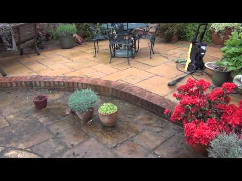 Karcher K3 Pressure Washer Cleaning a Patio