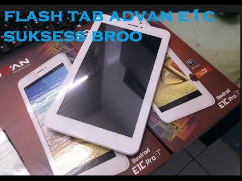 Flash Tablet Advan E1c 100 Berhasil