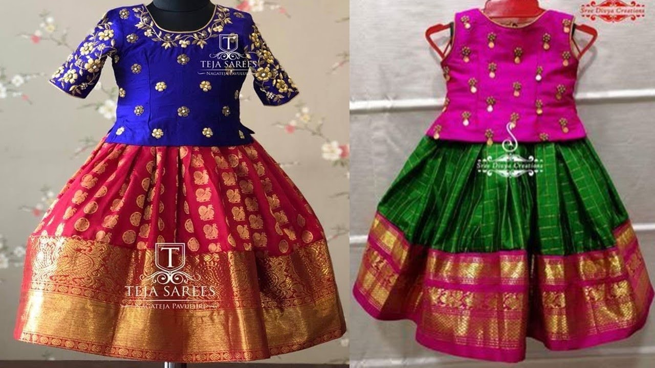 Kid S Simple Maggam Work Lehenga Designs 2019 Youtube