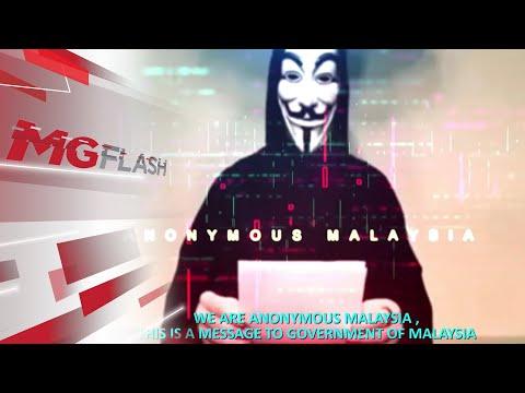 Anonymous Malaysia Ancam Serang Sistem Keselamatan Kerajaan #MGFlash