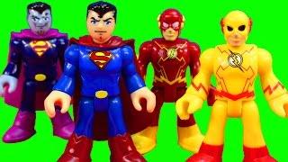 imaginext superman flash drive hulk smash vehicle to battle dr zoom and bizarro alien space station