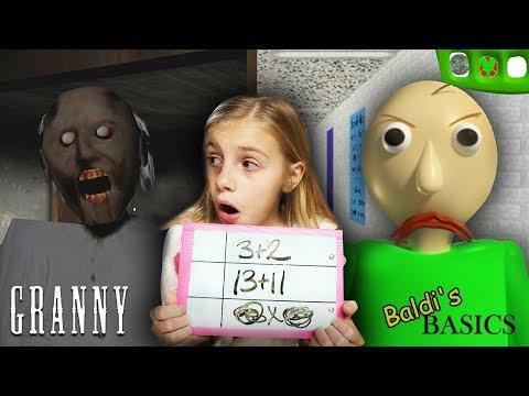 Baldi's Basics at Granny's Homeschool! | Granny Horror Game and Baldi's Basics in REAL LIFE COMBINED