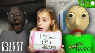 Download Baldi's Basics at Granny's Homeschool! | Granny Horror Game and Baldi's Basics in REAL LIFE COMBINED Mp3 and Videos